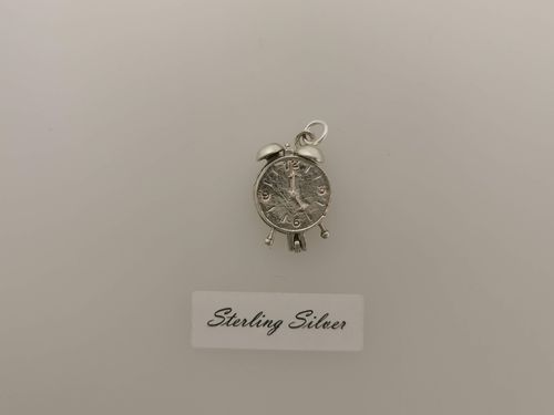 Silver Opening Alarm Clock Charm